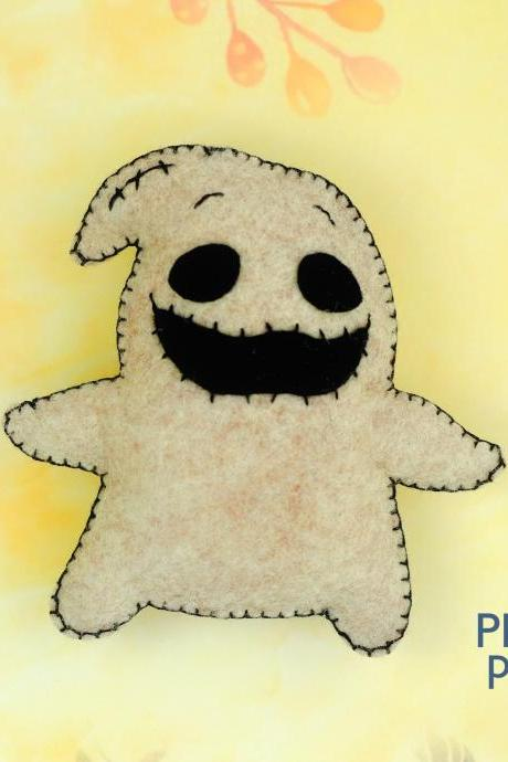Felt Oogie Boogie toy sewing PDF pattern, Nightmare before Christmas, Easy to make Halloween toy